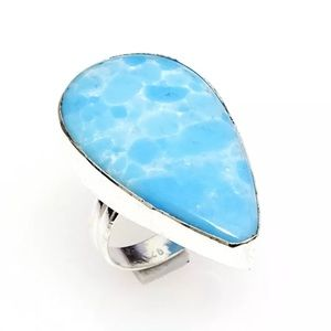 Jewelry - Caribbean Larimar  925 Sterling silver Ring